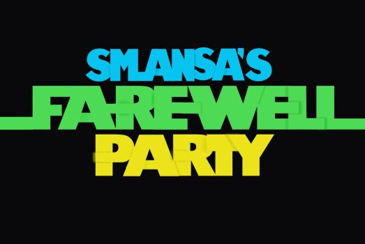 smansa farewell party typography by ridhogillang