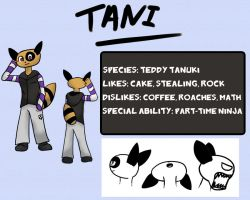 014-Profile Card- Tani the Teddy Tanuki by Garakow