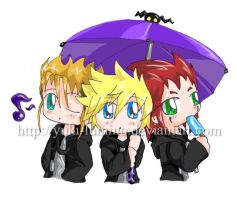 Demyx, Roxas and Axel by Yuki-Lumino