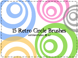 Retro circle brushes by WinterChaos