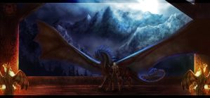 Hall of the Dragon Riders by noctem-tenebris