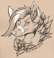 InkTober - Fundraising to help a friends dog! by Temrin