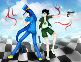 John: Bond with Jake - Homestuck FA by GingerSnake