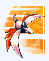 Skarmory Doodle by FrozenQuills