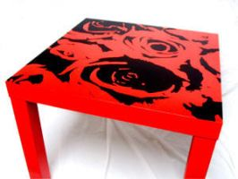 red petals - table by bazbeaker