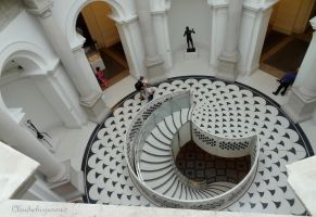 Wonderful stairs - TATE Britain Museum, London by Cloudwhisperer67
