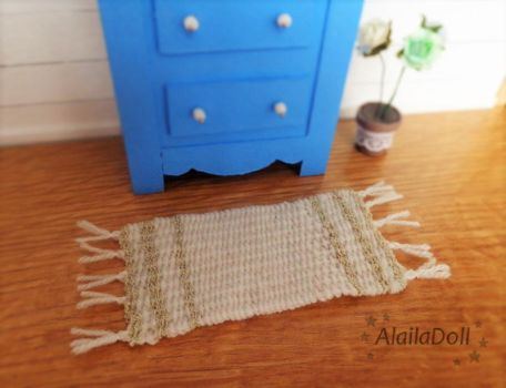 Dollhouse miniature rug by alaila1