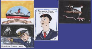 Last batch of Titanic sketchcards by PlummyPress