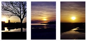 3 galway sunsets by fergflannery