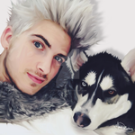 Joey Graceffa + wolf by Kawaiiwarrior
