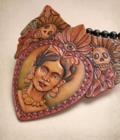 El Corazon - Bib Necklace by phee-adornments