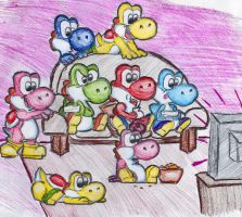 Yoshi Wii Party by Chihuahuadragon