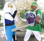 Hylian Creed Sheik and Ocarina Link by R-Legend