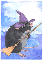 Ratty Witch! by SweetIllustrations