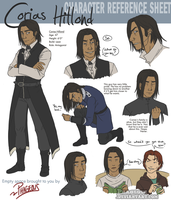 Corias Hillond: Ref sheet by Phageous
