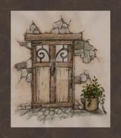 Watercolor Door by flightresponse