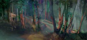Forest speedpaint practice 2 by axl99