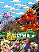 Monsters Attack Hollywood by Enshohma