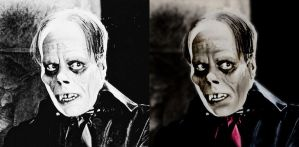 Lon Chaney - Phantom - before after by B-D-I