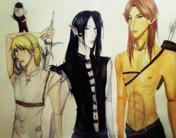 watercolor: ascension boys by yamiblood
