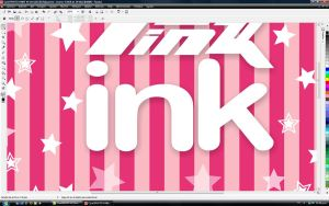 made in corel in pink by mclaranium