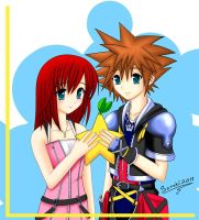 Kairi and Sora by Senshiman