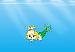Isabelle mermaid art trade by efilthesquirrel