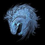 A Blue Horse by kidjet