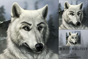 Whitewolfsev Icon Commission by DarkIceWolf