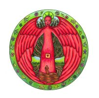 Angel of Muladhara by ChaoticatCreations
