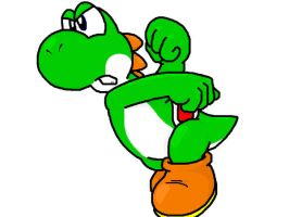 smash bros yoshi by Nintendrawer