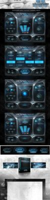 Hidden Path Audio Barrage Kontakt Library GUI by ScottKaneGUIs