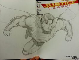 justice league sketchcover superman by Sajad126