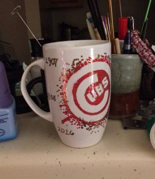 Cubs Pride .:hand painted mug:. by Angelix88