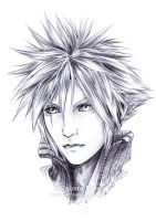 FF7 - CLOUD Strife - Pen by Washu-M