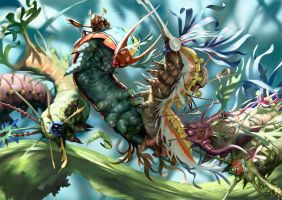 Salsa Invertebraxa - Ambush of the Caterpillers by m0zch0ps