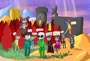 doomed kid rumpus party by GravelPudding