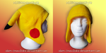 Pokemon Pikachu Fleece Beanie Hat Cosplay V2 by Alien-Snowflake