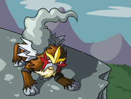 Legendary Beast Entei by kellllly