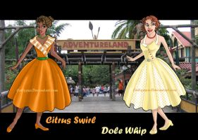 1950's Disney Bound- Dole Whip and Citrus Swirl by Caliypsoe
