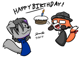 Yo It's Your Birthday Mewgs by Mister-Saturn