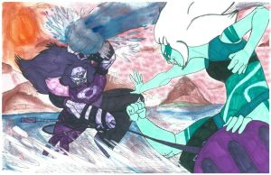 Clash of the Giant Women: Sugilite VS. Malachite by Gojira007