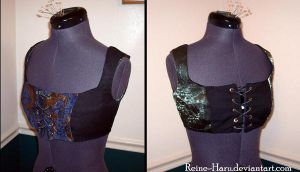 Reversible Cropped Bodice by Reine-Haru