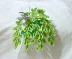 Willow and water kanzashi by EruwaedhielElleth