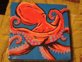 Mini Red Octopus by JadasArtVision