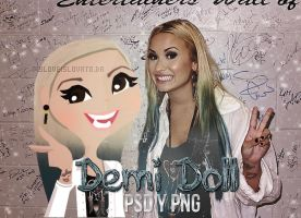 +DemiDoll en psd y png by myloveisLovato