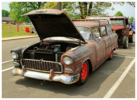 A Ratty 55' Chevy Wagon by TheMan268