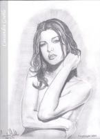 Milla Jovovich finished by DarkGirlDrawings