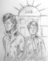 Sherlock and John by jayderange