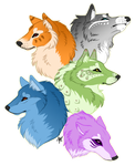 Color Wolves Re-do by Demon-Child-13